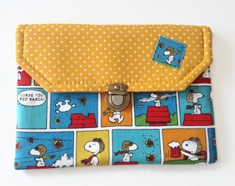 Snoopy Comics Ipad Mini Case, Peanuts Tablet Cover, Snoopy Flying Ace E-Reader, Ready to Ship