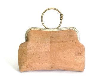 Cork Handbag, Eco Friendly Bag, Genuine Cork Purse, Ready to ship