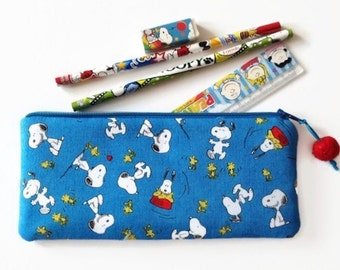 Snoopy and Woodstock Pencil Case, Snoopy Zipper Pouch