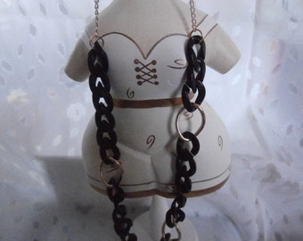 Handmade, Beautiful Black Necklace and Jewelry Set- Woman's Gift, High Fashion, Art Deco