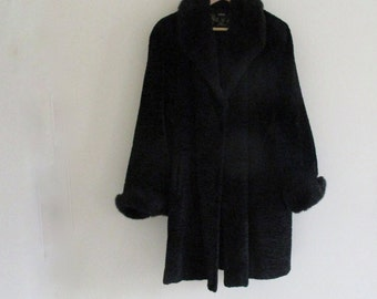 33ec9995dac Elegant Large Snug Black French Large Coat