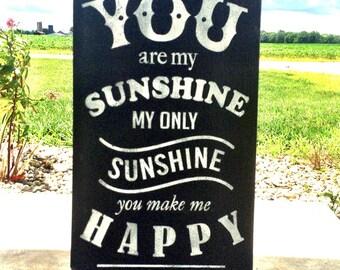 You Are My Sunshine, You Are My Sunshine Wood Sign, Nursery Decor, Nursery Sign, Home Decor