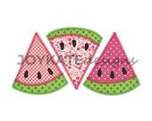 Watermelon Slice Trio Applique Embroidery Design