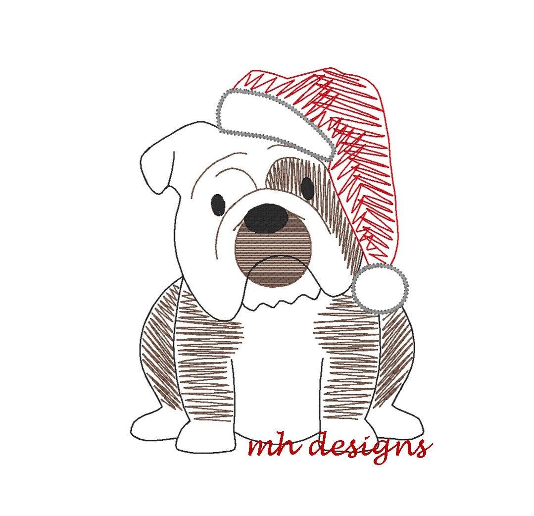 5 x 7 Vintage Skizze Kreuzstich Weihnachten Bulldog   Etsy