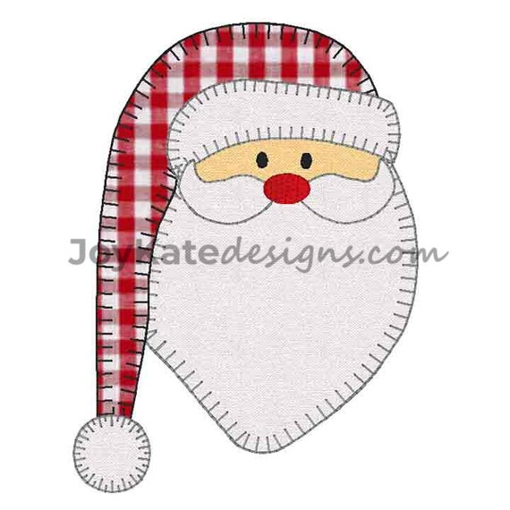 Old World Santa Claus Blanket Stitch Applique' Embroidery Design