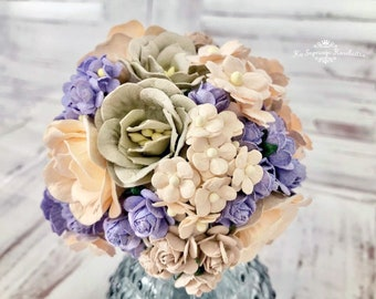 """Mulberry paper flowers, assorted pastel color mix """"Mila"""", 88 pieces"""