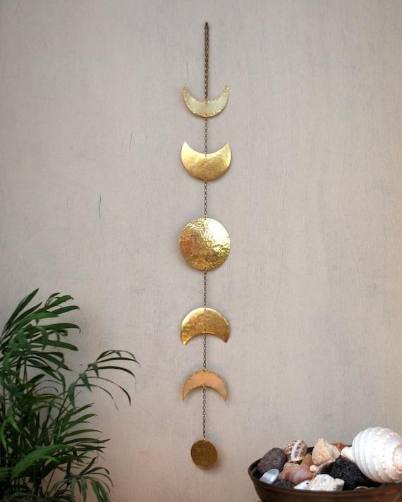 Moon Phases Wall Hanging Brass Moon Wall Decor Full Moon