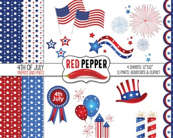 ON SALE 4th of July - Digital Clipart - Instant Download