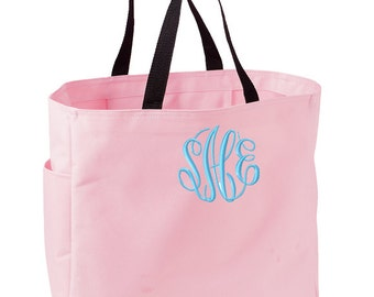SET of 8 Monogrammed Tote Bags - Perfect for Bridesmaids