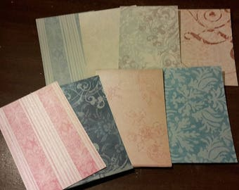 4x6 PEARLIZED PRINTED cardstock 50 sheets paper craft supplies multi colors