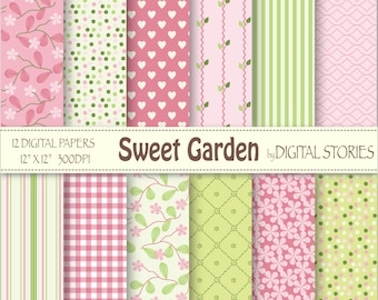 Floral Digital Paper: ALMOND BLOSSOMS Blossoms | Etsy