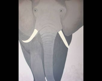 African Elephant Original Painting