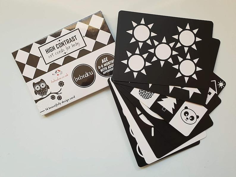 Sensorische Flash-Karten Kunstkarten für Baby 7 schwarz ...