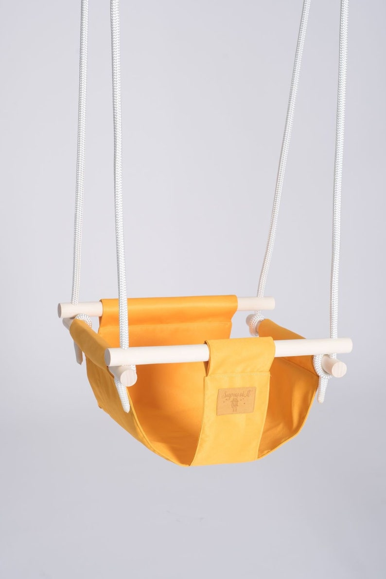 5851042c4df4 Baby swing chair Yellow toddler swing chair Baby hammock