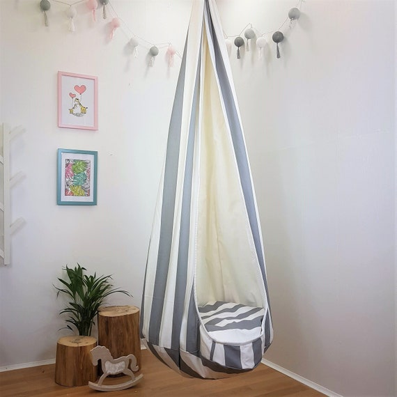 Cocoon Toddler Swing Indoor Hammock Chair Hanging Seat Striped Etsy