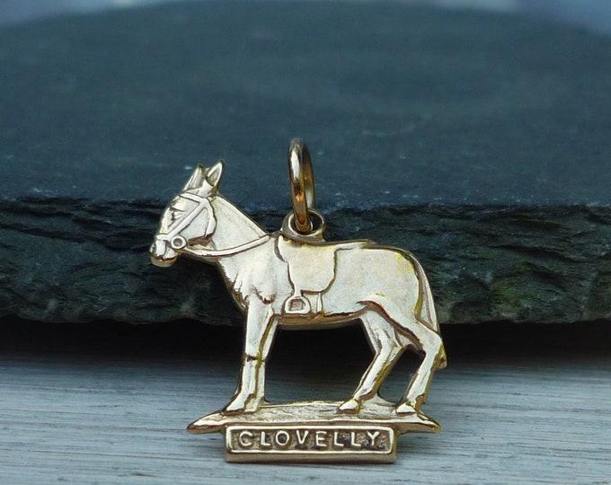 Bernard Instone Jewellery, 9 ct Gold Clovelly Donkey Charm or Pendant