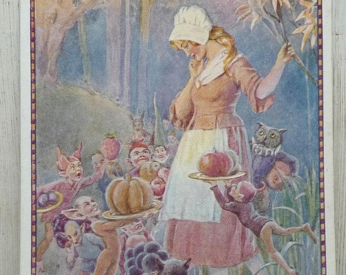 Margaret Tarrant Goblins Market Postcard, Christina Rossetti, Medici