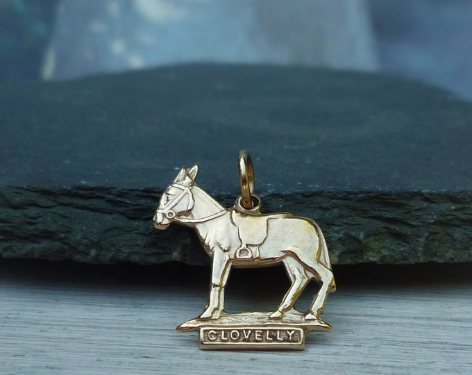 Bernard Instone Jewellery, 9 ct Gold Clovelly Donkey Charm or Pendant