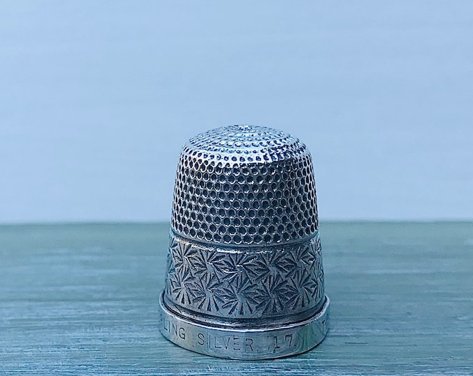 Henry Griffith & Son Sterling Silver Thimble, The Spa Vintage Sewing
