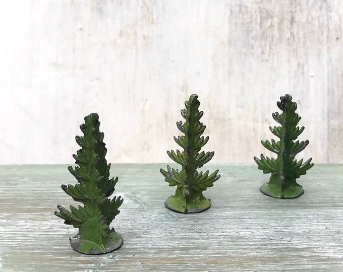 Antique German Miniature Lead Trees by Heinrichsen, Heyde, Spenkuch?