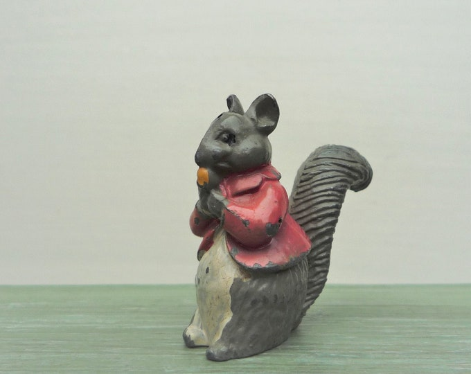 Timpo Beatrix Potter Lead Squirrel, Vintage Timpo Timmy Tiptoes Figure