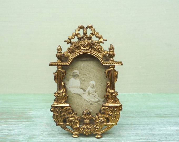Miniature Decorative Ormolu Picture Frame for the Victorian Doll House