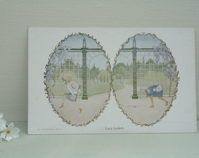 Lucy Locket, A Henrietta Willebeek Le Mair Old Rhymes Picture Postcard
