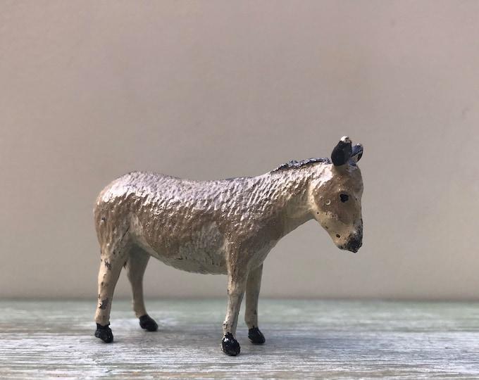 Vintage Britain's Lead Farm Animal, Hollow-Cast Miniature Donkey 552