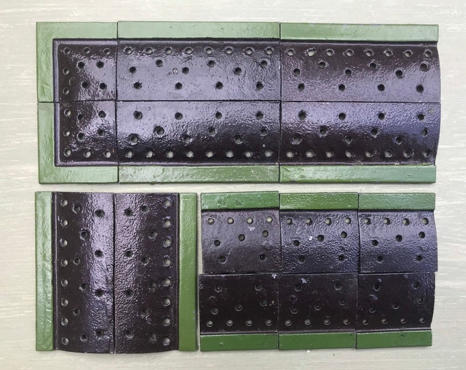 Britains Miniature Gardening, Lead Garden Flower Bed Base Sections