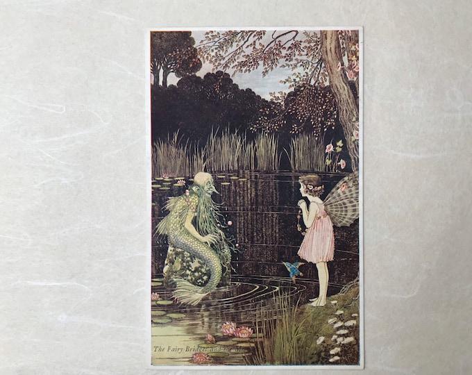 Ida Rentoul Outhwaite Postcard, Fairy Bridget & The Merman, Blacks 75