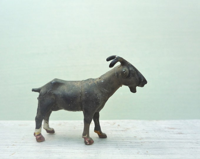 Vintage Miniature Britain's Lead Goat, Model Farm Animal Figure