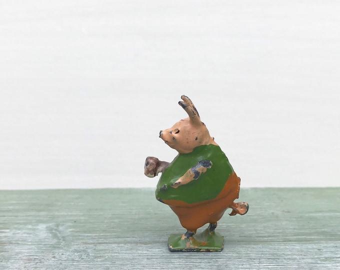 Britain's Miniature Lead Piglet Pig Cococub, 1930s Vintage Cadbury Cocoa Advertising, Collectable Figure