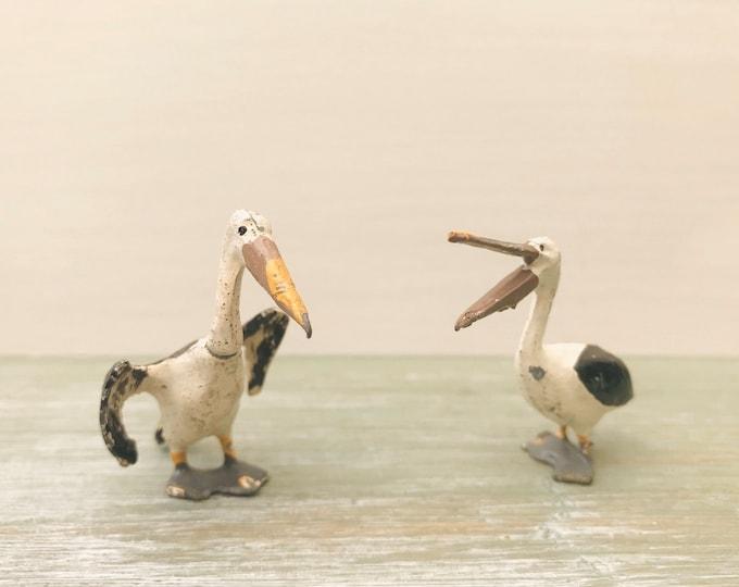 Vintage Britains Miniature Lead Zoo / Wild Birds, Pelicans 909 & 913