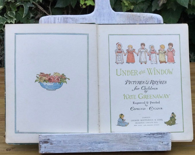 """Kate Greenaway 1879 1st edition, """"Under The Window"""", George Routledge"""