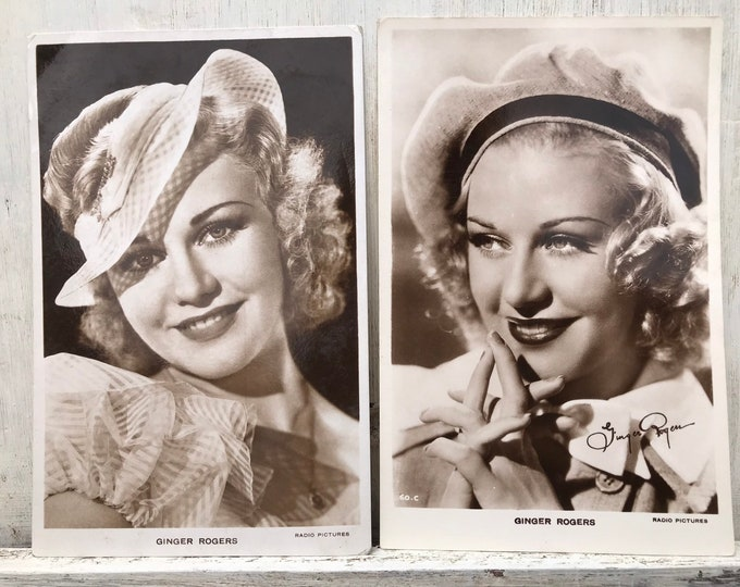 Ginger Rogers Film Star Postcards, Radio Pictures Movie Photograph