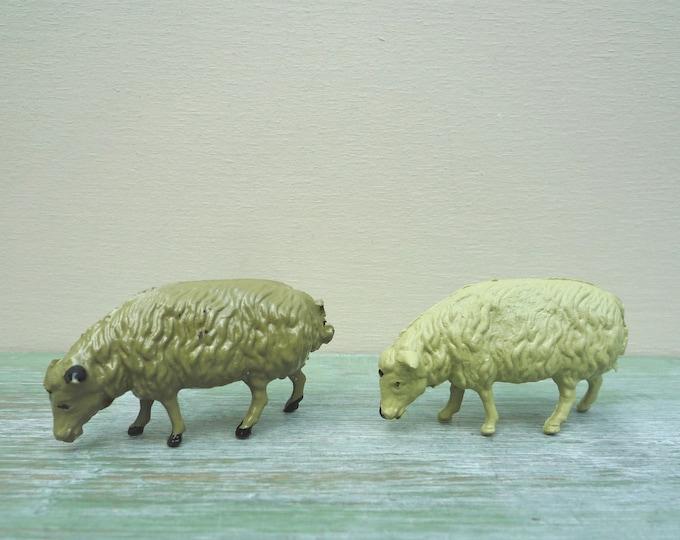 Vintage Flyde Lead Farm Animal Figures, Miniature Sheep, New Old Stock
