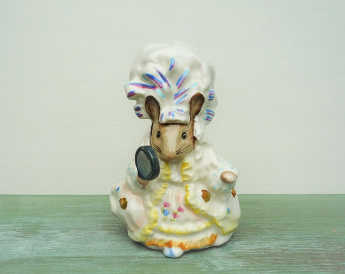 Vintage Beswick Beatrix Potter Lady Mouse in Mop Cap China Figurine