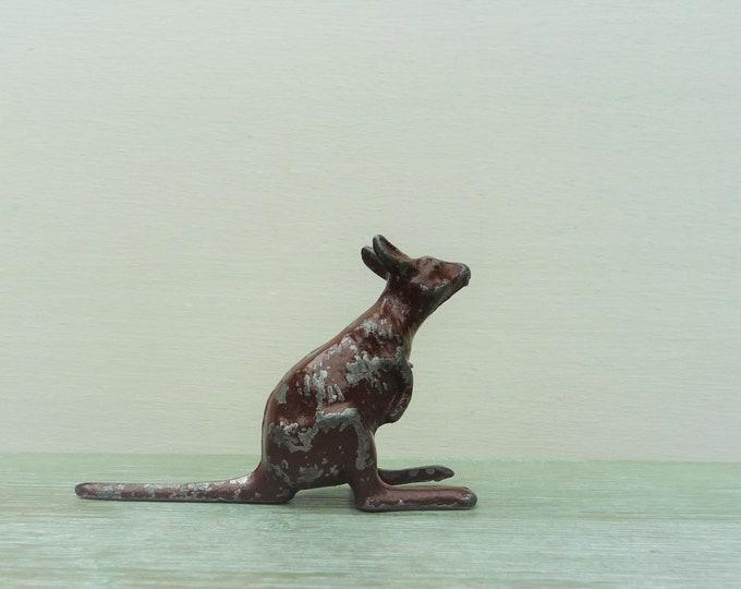 Vintage Miniature Lead Kangaroo, Britains Era Australian Animal Figure