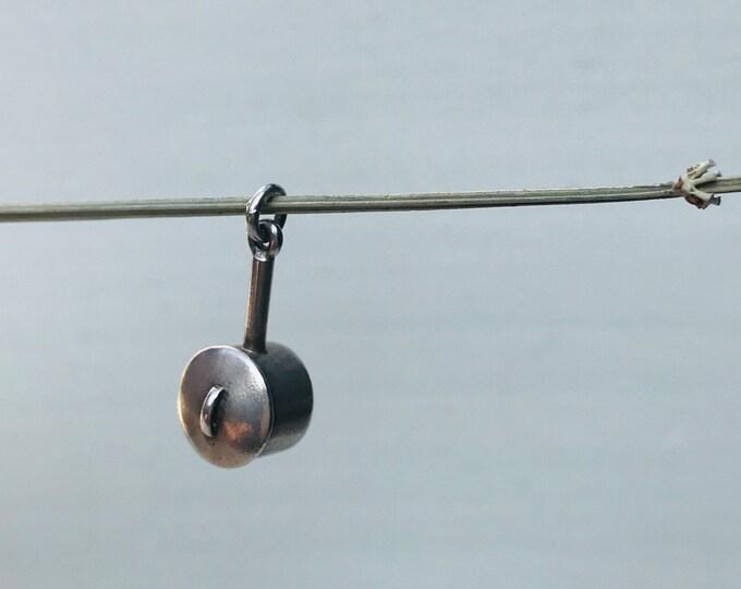 Silver Charm Pendant, Miniature Saucepan Utensil for Dolls House Kitchen