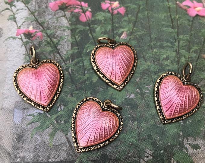 Vintage David Andersen Willy Winneass Pink Enamel Silver Pendant Charm