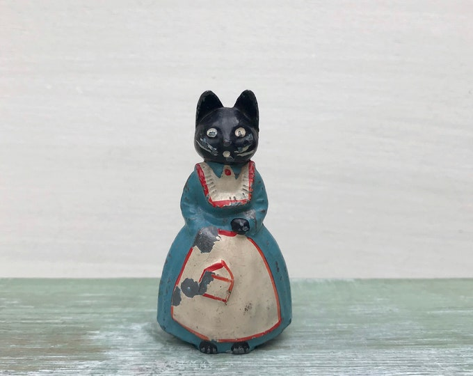 Luntoy Lead Cat, Prudence Kitten Vintage Britains Era TV Character Toy