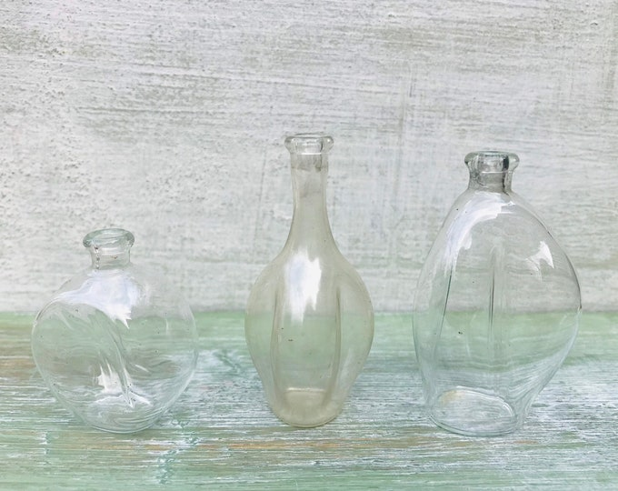 Vintage Miniature Glass Bottles for Dolls House or Display