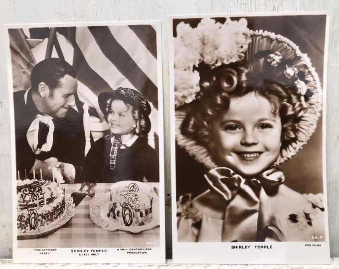 Shirley Temple 1930s Photo Postcards, The Littlest Rebel Jack Holt Fox