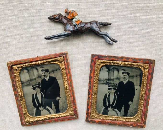 Edwardian Vignette Photographs & Escalado Lead Horse with Jockey, Day at the Races, Brighton