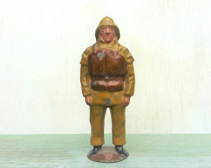 Vintage Britain's Miniature Lead Lifeboatman, Hollow-Cast Civilian