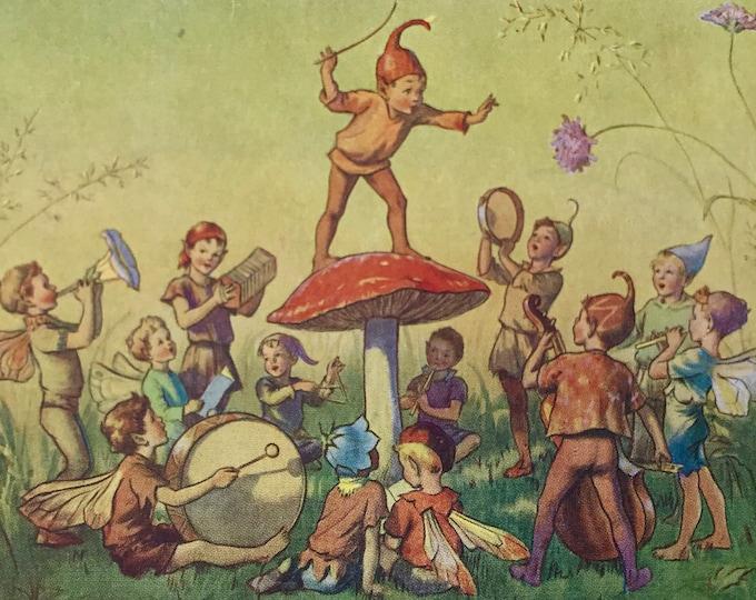 Margaret Tarrant Fairy Postcard, Elfin Chorus, Medici Society pkt 172