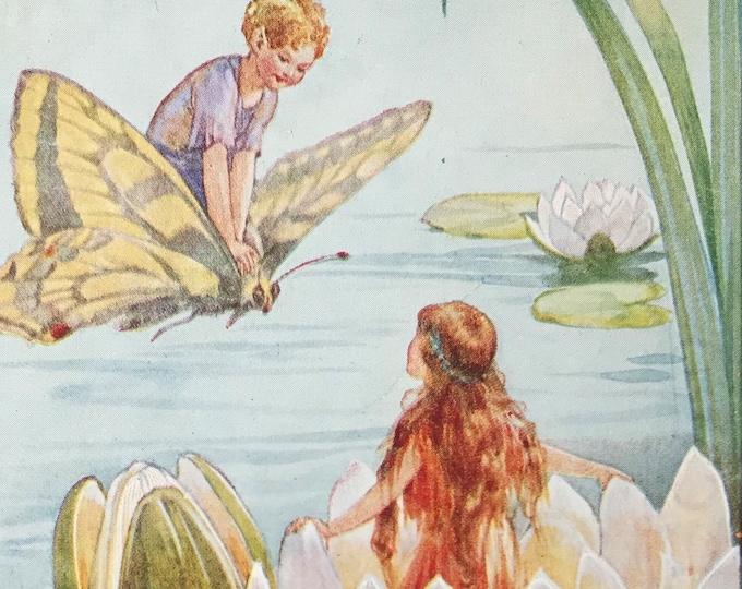 Margaret Tarrant  Medici Fairy Postcard The Water-Lily Fairies 6/1586