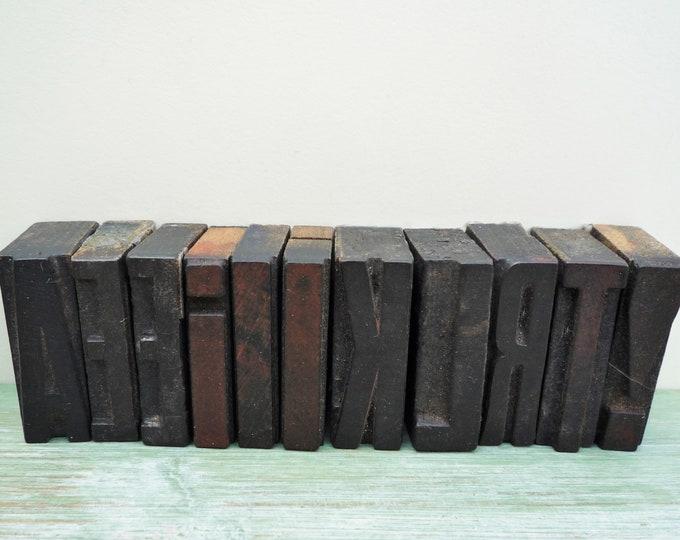 Vintage Wooden Letterpress Printers Poster Letters I 35mm