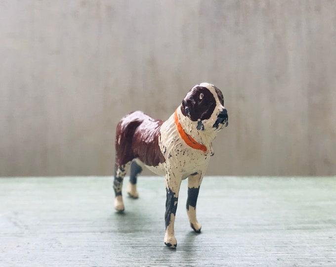 Vintage Britains Miniature Lead Animal, St Bernard Dog Farm Series 576