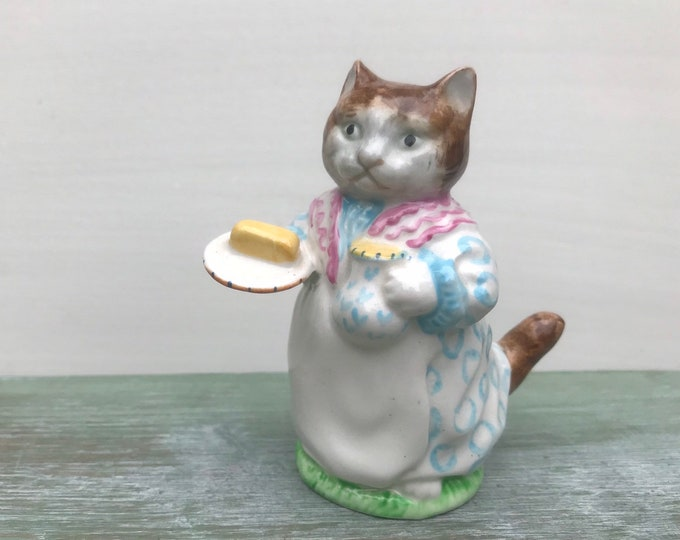 Ribby, Beatrix Potter Beswick Cat Figurine, Pie & Patty-Pan, Tea Party